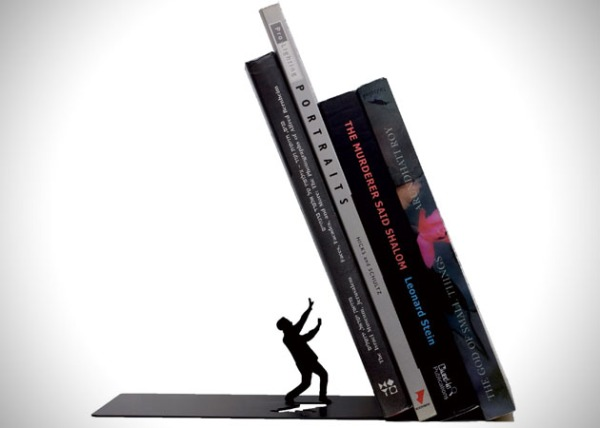 Falling-Bookend