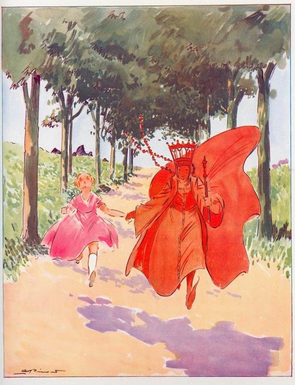Alice+in+Wonderland+illustrations+André+Pécoud,+1950+(4)