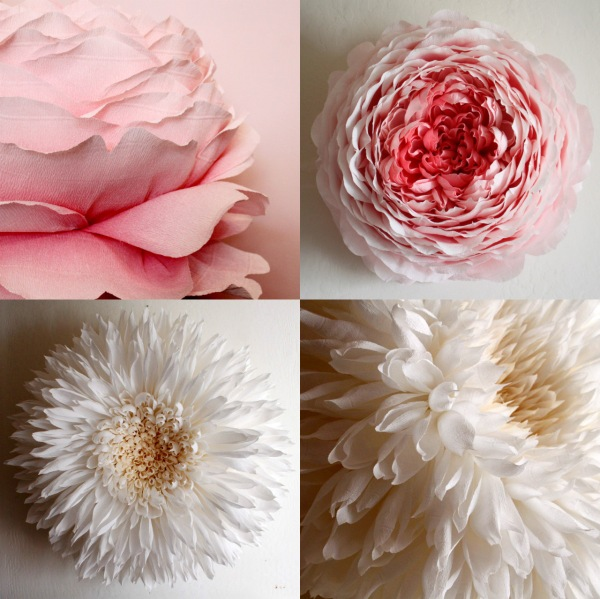 Giant paper flowers inspire these beautiful paper flowers are about 3 feet wide and take somewhere between 35 80 to make just one artist tiffanie turner creates these big babies out mightylinksfo
